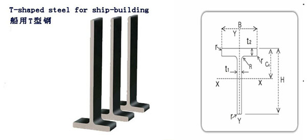 Steel T Shapes : T shaped steel for ship building